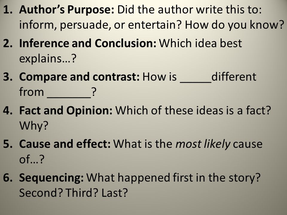 Step Two: A.Write down three questions about the section you just read.