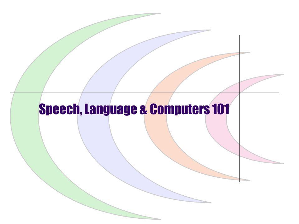 SpeechTEK 2007 Tutorial 23 August 2007User-Focused VUI Design Agenda Preliminaries Speech, Language & Computers 101 The Design Work Before the Design