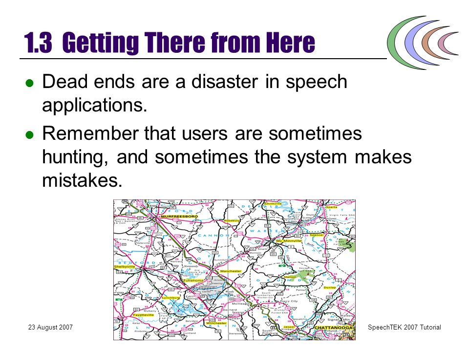 SpeechTEK 2007 Tutorial 23 August 2007User-Focused VUI Design 1.2 Make the Common Tasks Faster How often do users call the system? Within a system, wh