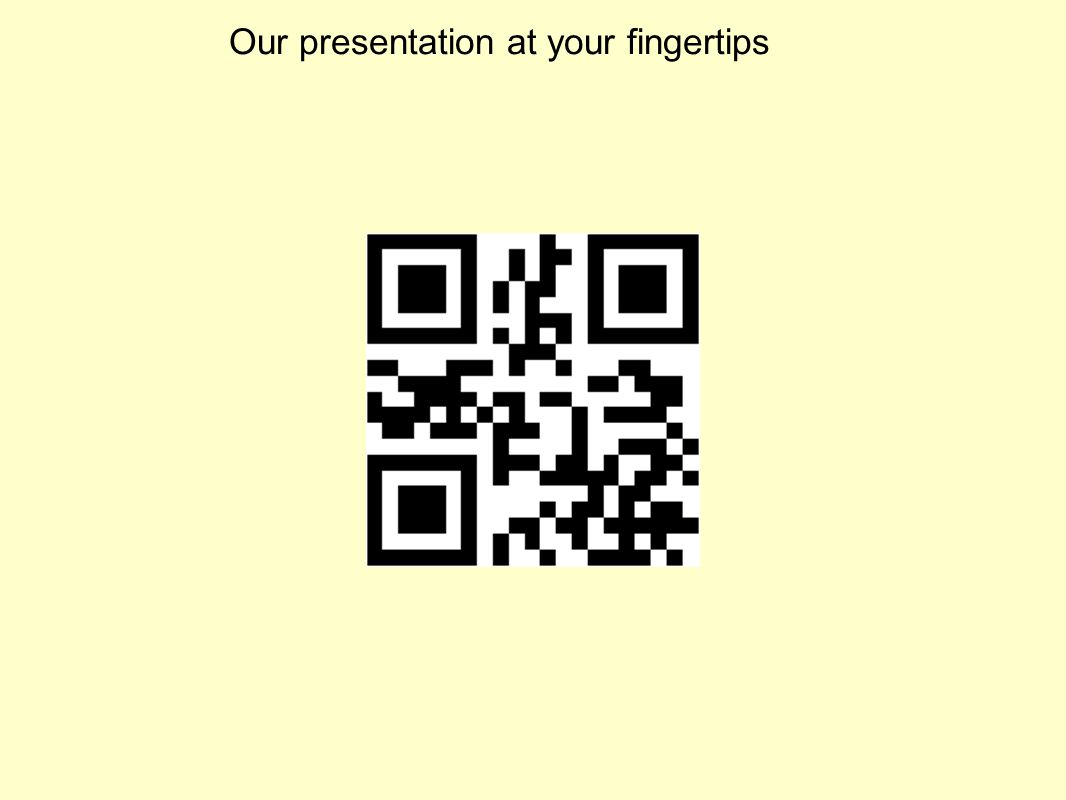 Our presentation at your fingertips