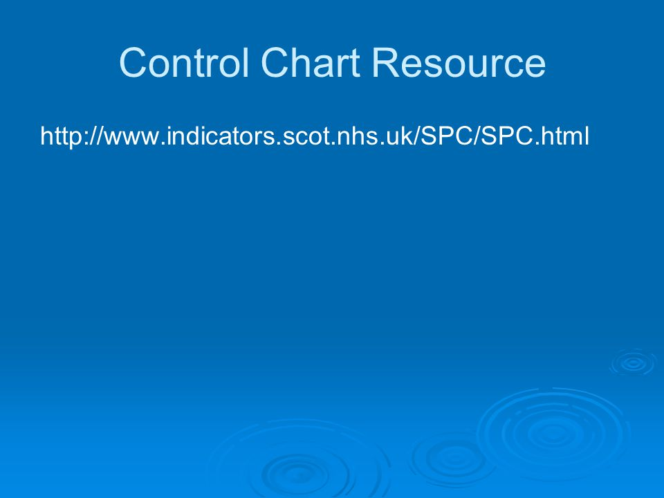 Control Chart Resource http://www.indicators.scot.nhs.uk/SPC/SPC.html
