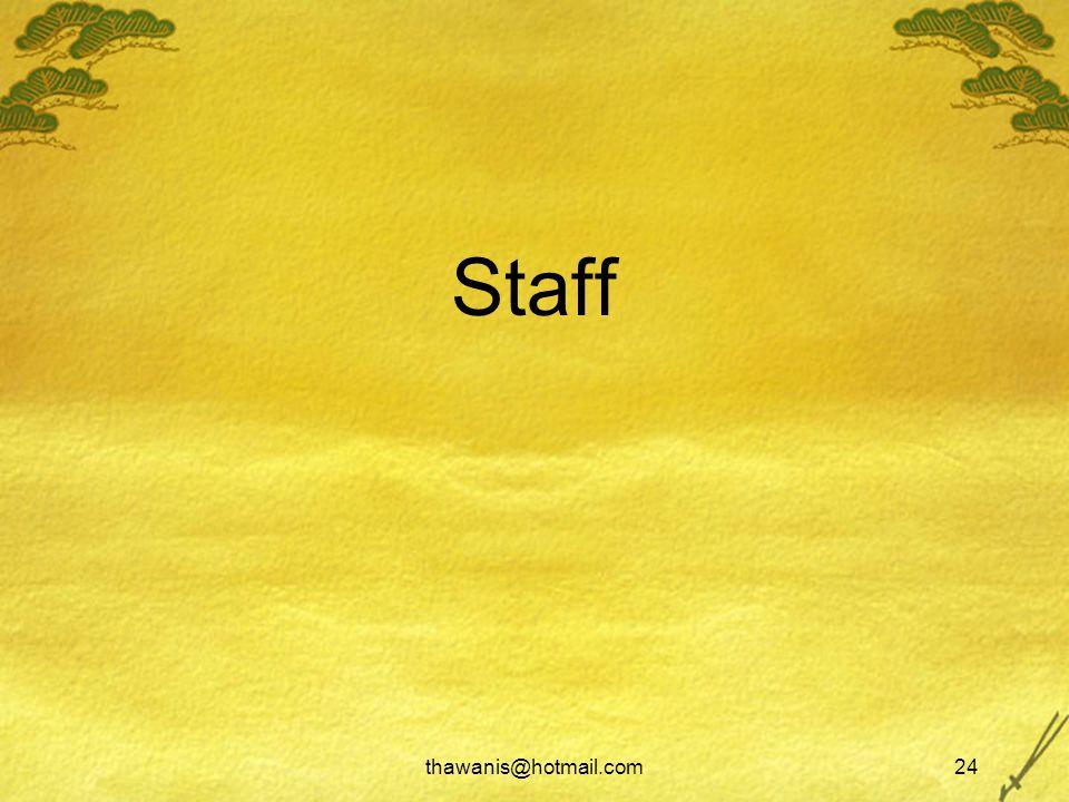 thawanis@hotmail.com24 Staff