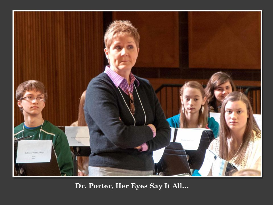 Dr. Porter, Her Eyes Say It All…