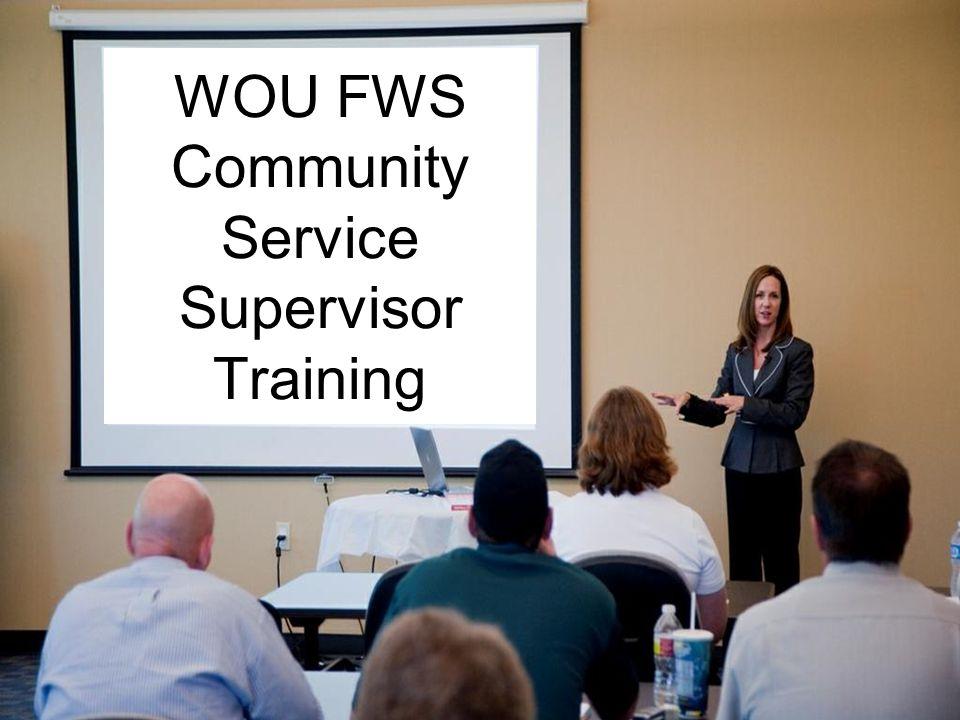 WOU FWS Community Service Supervisor Training