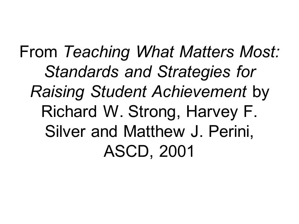 Rigor is not a special program or curriculum for select students.