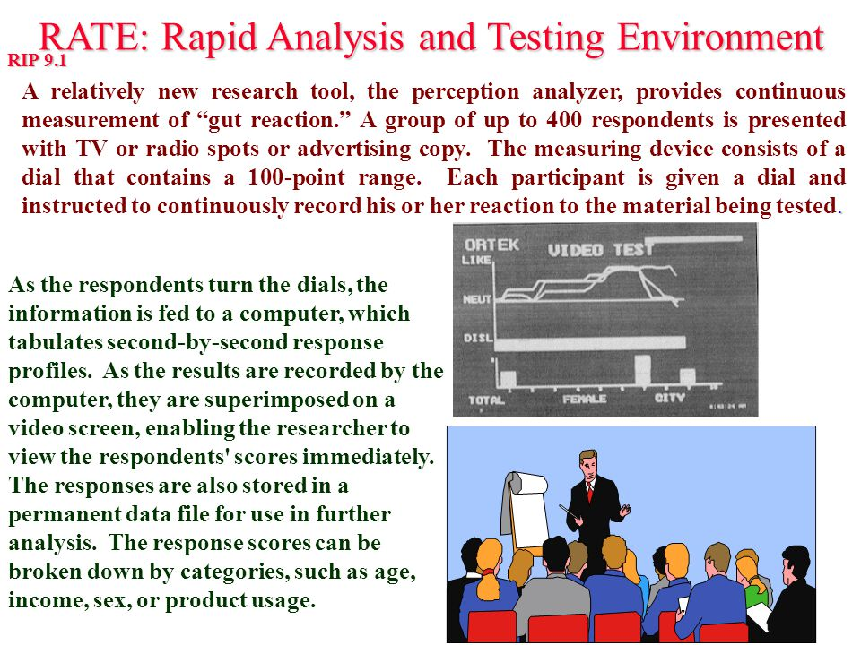 RATE: Rapid Analysis and Testing Environment RATE: Rapid Analysis and Testing Environment RIP 9.1. A relatively new research tool, the perception anal