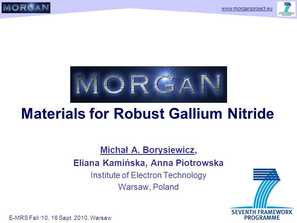 www.morganproject.eu Materials for Robust Gallium Nitride Michał A.
