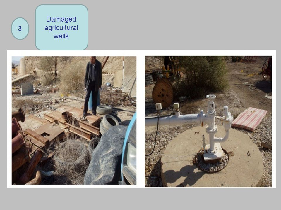 Damaged agricultural wells 3