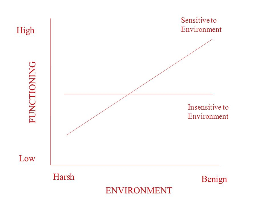Harsh Benign Low High Sensitive to Environment Insensitive to Environment ENVIRONMENT FUNCTIONING