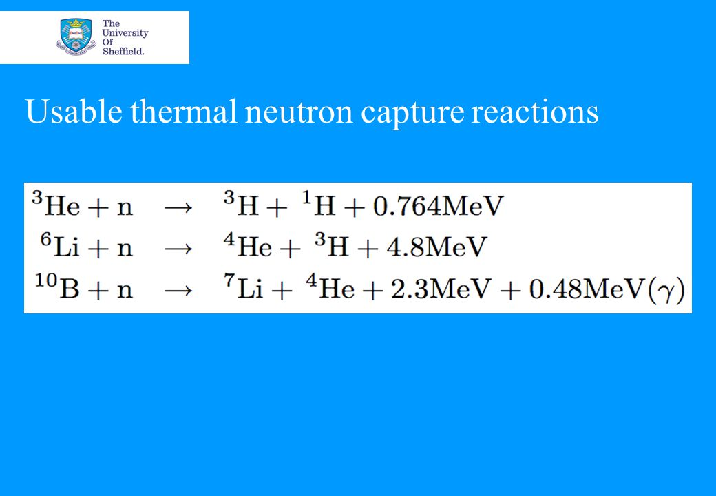Usable thermal neutron capture reactions