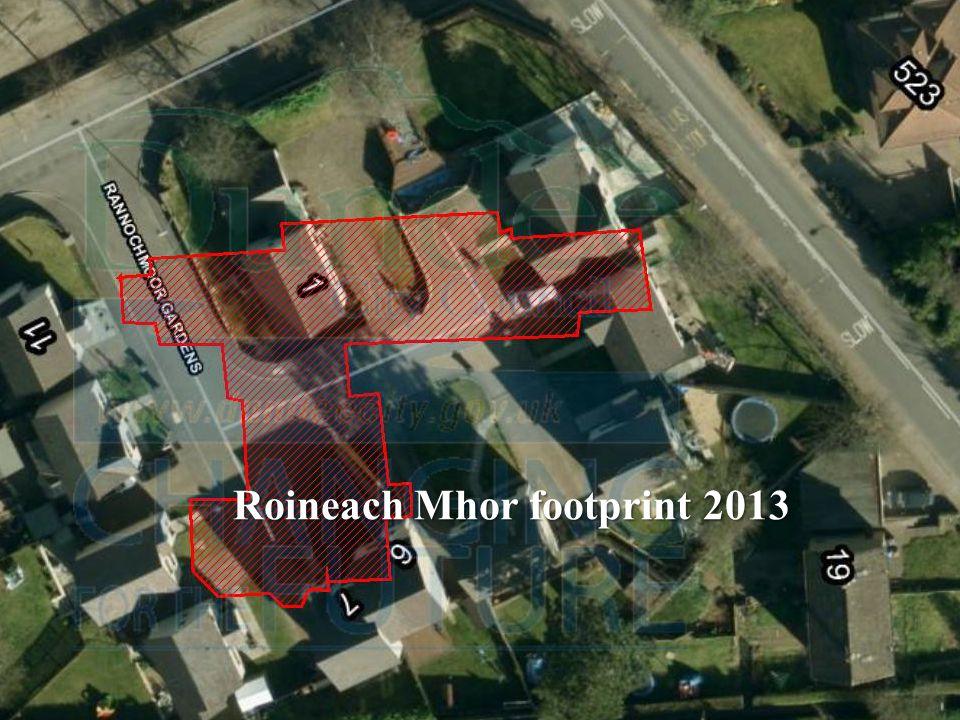 Roineach Mhor footprint 2013