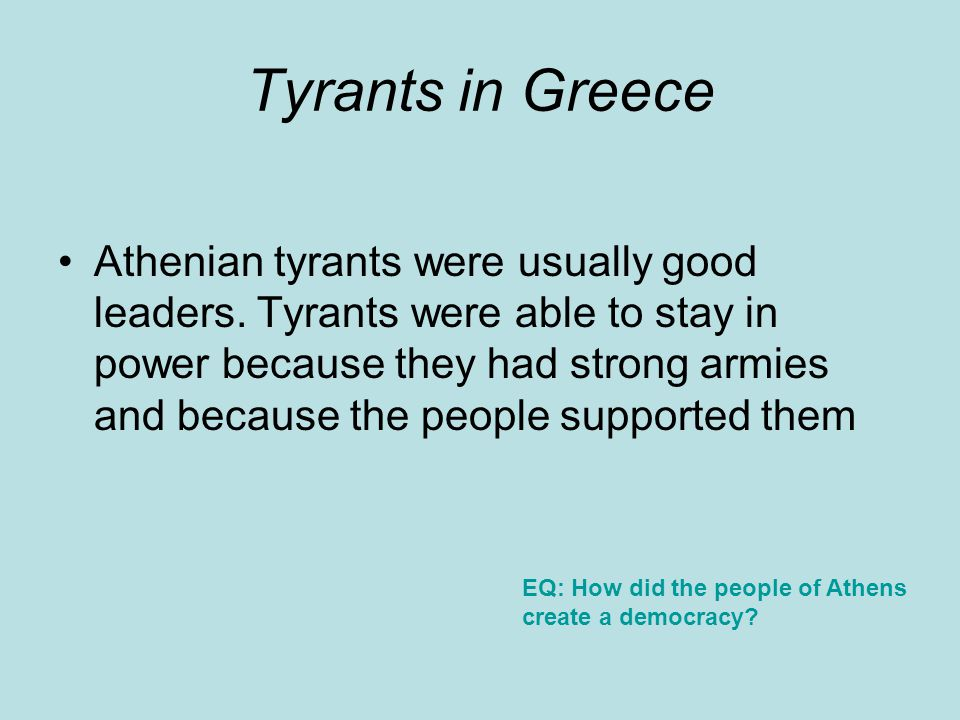 Class Work and Homework Fill In –What did I learn –Confused –Say EQ: How did the people of Athens create a democracy?