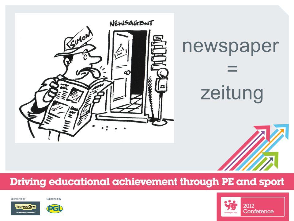 newspaper = zeitung