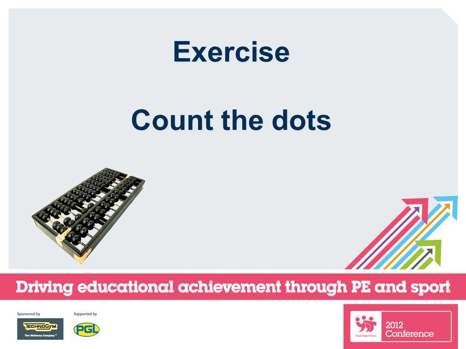 Exercise Count the dots Exercise Count the dots