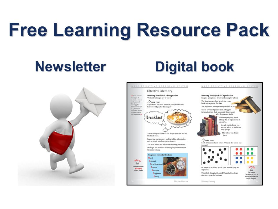 Free Learning Resource Pack Digital book Newsletter