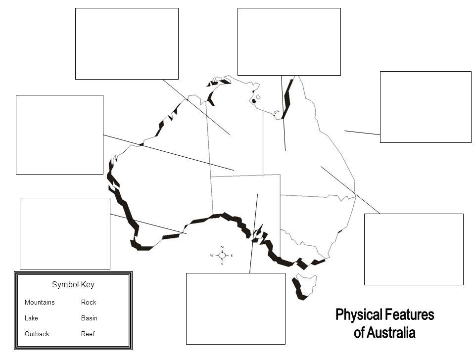 Symbol Key Mountains Rock Lake Basin Outback Reef