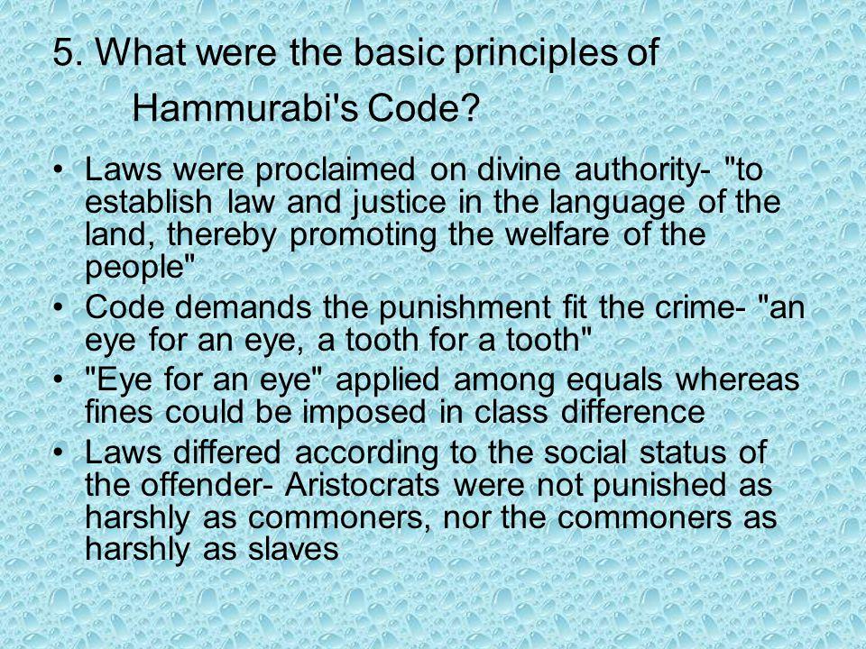 6.How did Hammurabi s Code deal with legal procedures.