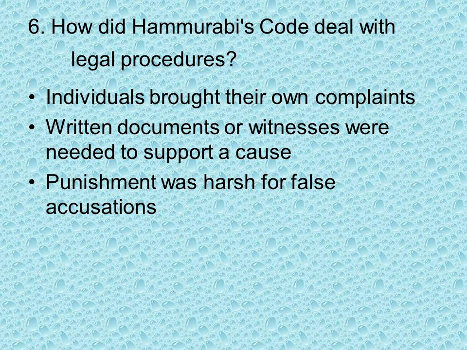 7.How did Hammurabi s Code deal with witchcraft.