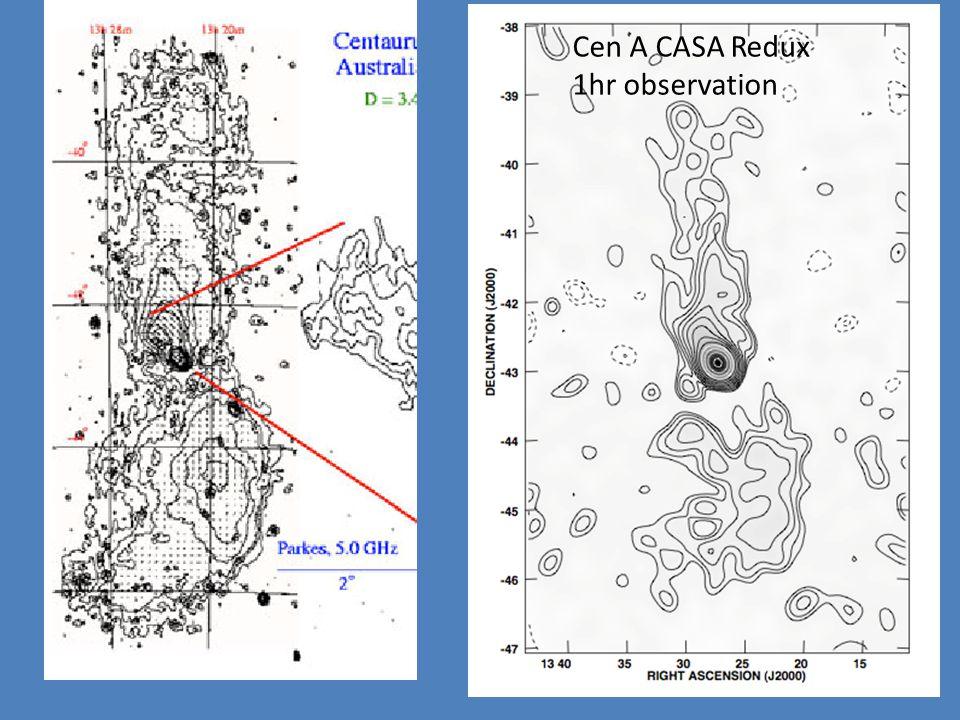 Cen A CASA Redux 1hr observation