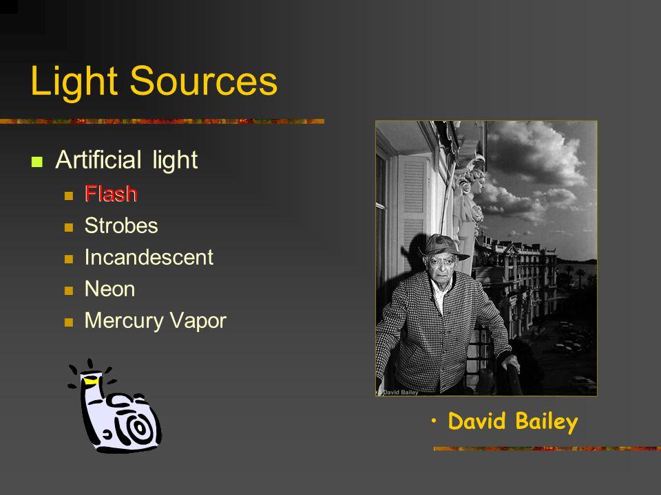 Light Sources Artificial light Flash Strobes Incandescent Neon Mercury Vapor Flash Diane Arbus