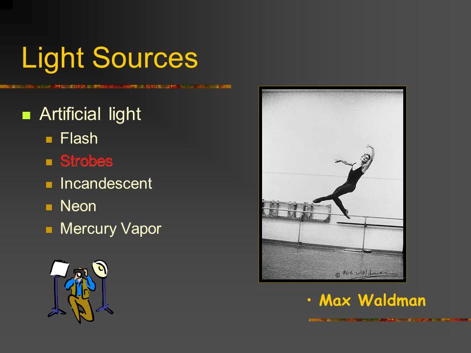 Light Sources Artificial light Flash Strobes Incandescent Neon Mercury Vapor Strobes Edward Steichen