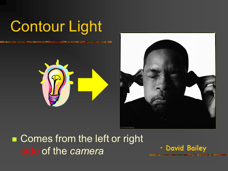 Neil Leifer Contour Light Comes from the left or right side of the camera