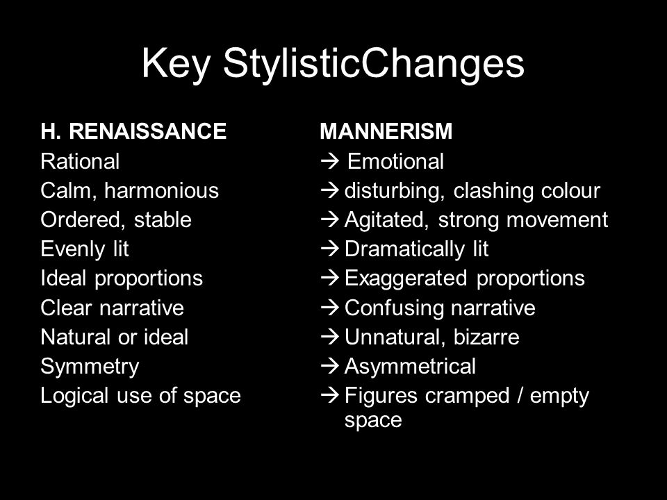 Key StylisticChanges H.