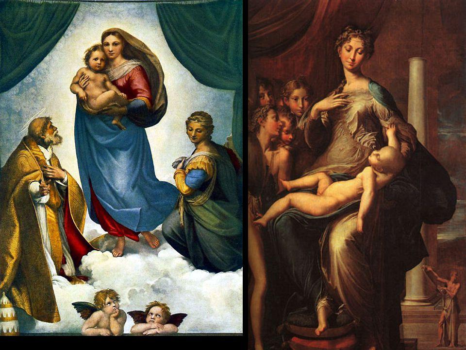 Sistine Madonna 1513. Long Neck 1535