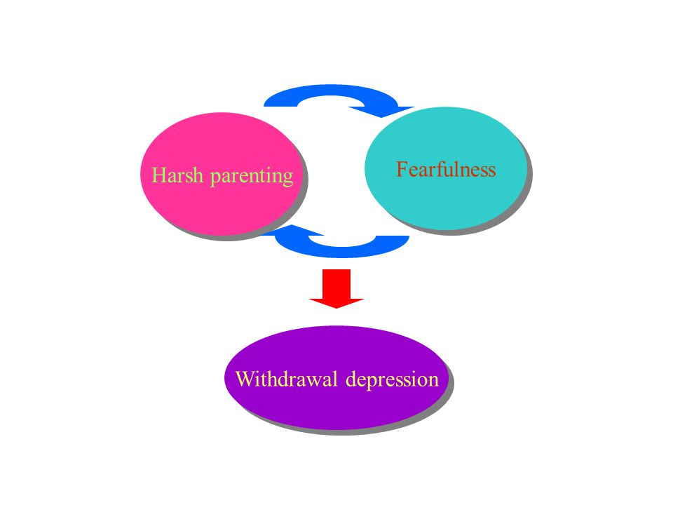 Harsh parenting Fearfulness Withdrawal depression