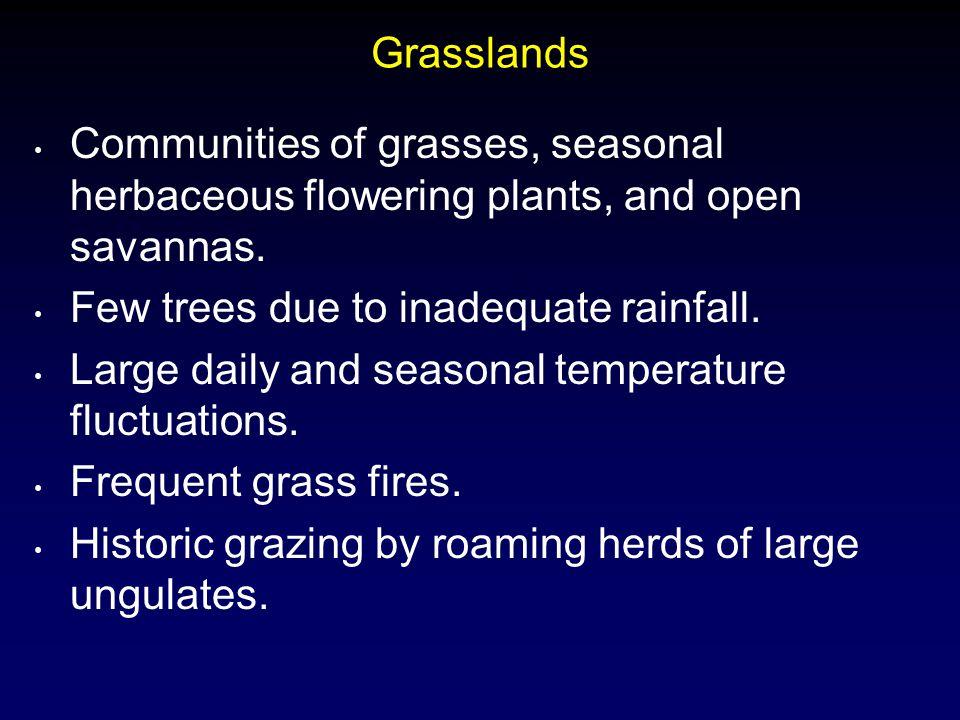 Tundra Treeless Very short growing season, with cold harsh winters.