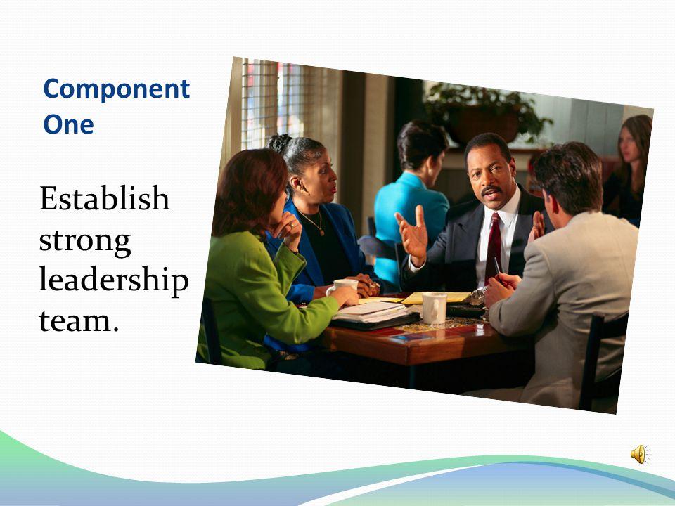 Component One Establish strong leadership team.