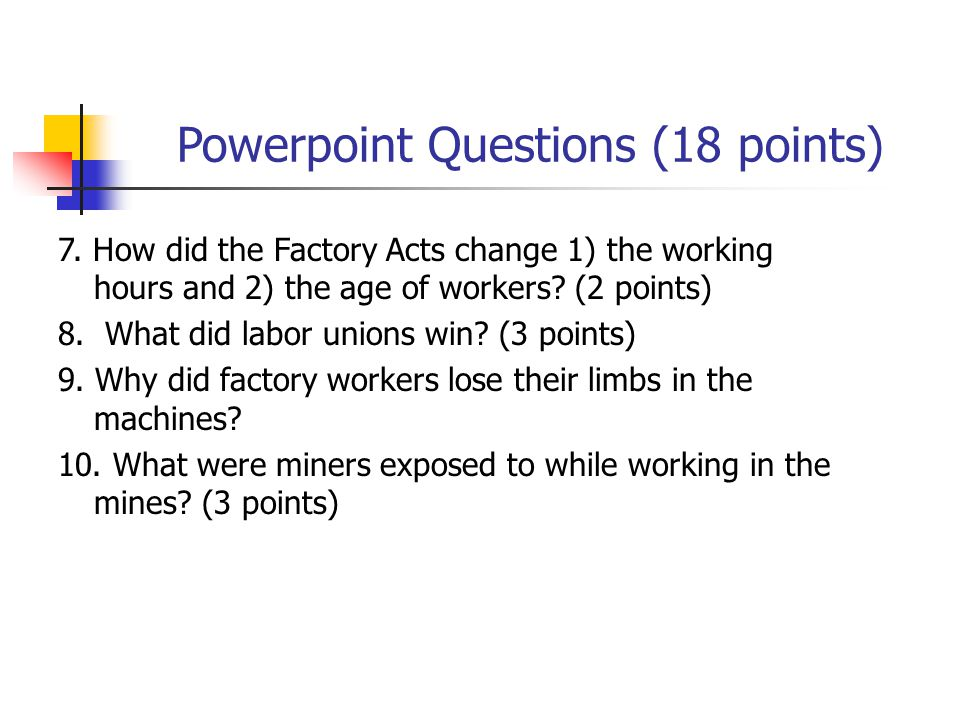 Powerpoint Questions (18 points) 7.