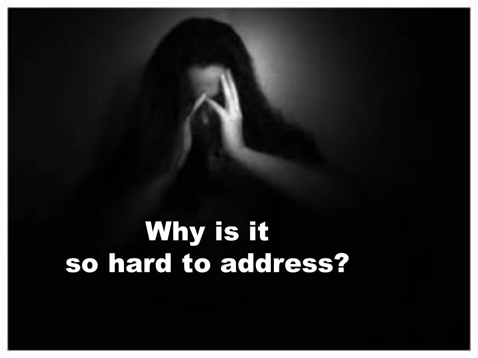 Why is it so hard to address?