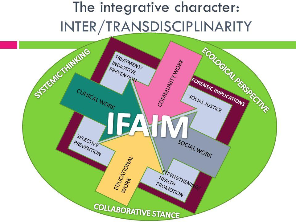 The integrative character: INTER/TRANSDISCIPLINARITY