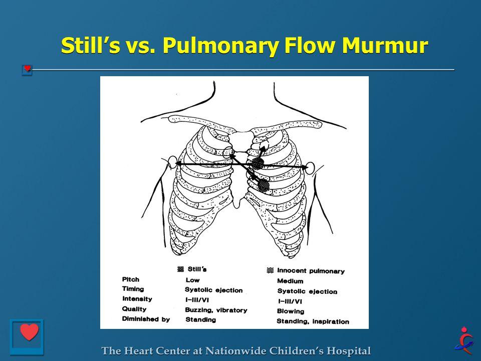 Still's vs. Pulmonary Flow Murmur