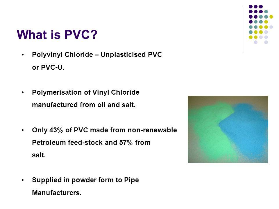 What is PVC.Polyvinyl Chloride – Unplasticised PVC or PVC-U.
