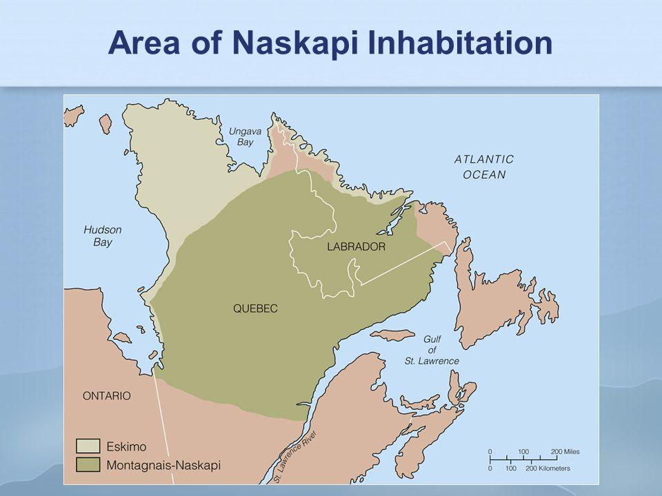 Area of Naskapi Inhabitation
