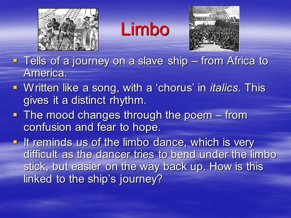 GCSE Anthology Poems from Different Cultures Cluster 1 Some basic notes on the 8 poems