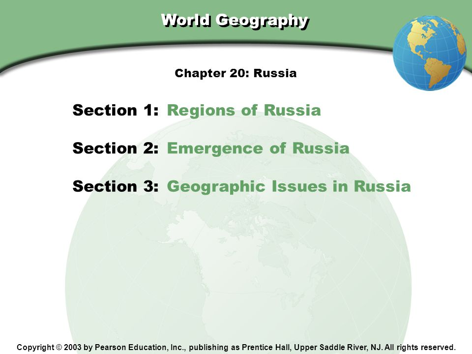 Chapter 20, Section Section 3 Review What alternative to pipelines does Russia use to transport oil from Siberia.