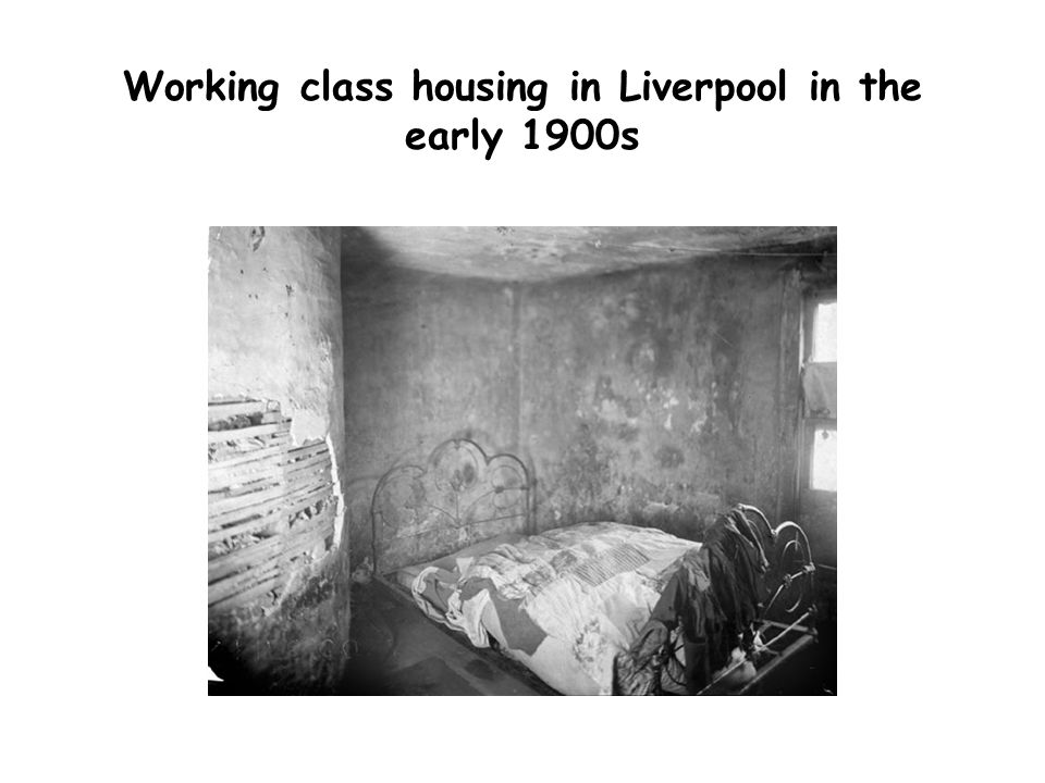 Working class housing in Liverpool in the early 1900s