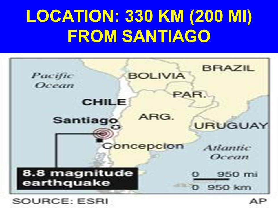 LOCATION: 330 KM (200 MI) FROM SANTIAGO