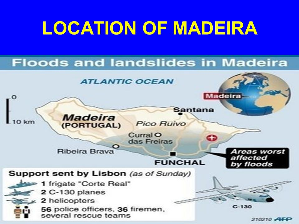 LOCATION OF MADEIRA