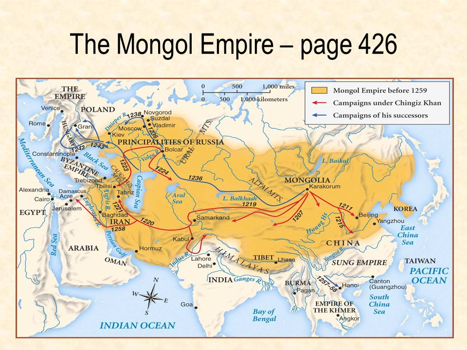 The Mongol Empire – page 426