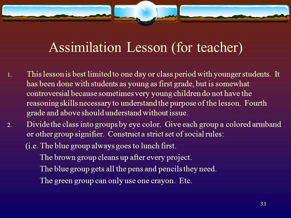33 Assimilation Lesson (for teacher) 1.