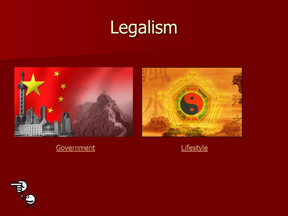 Legalism GovernmentLifestyle