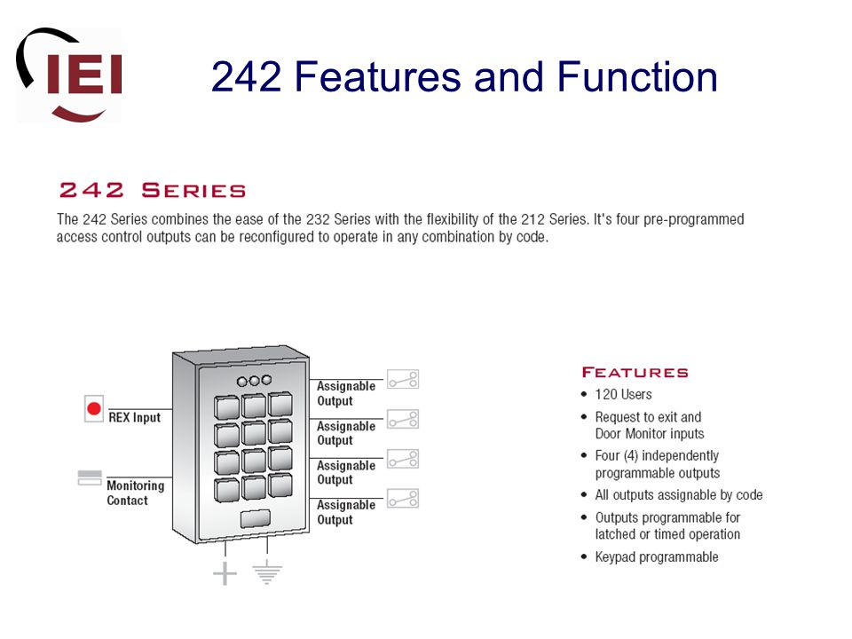 242 Features and Function