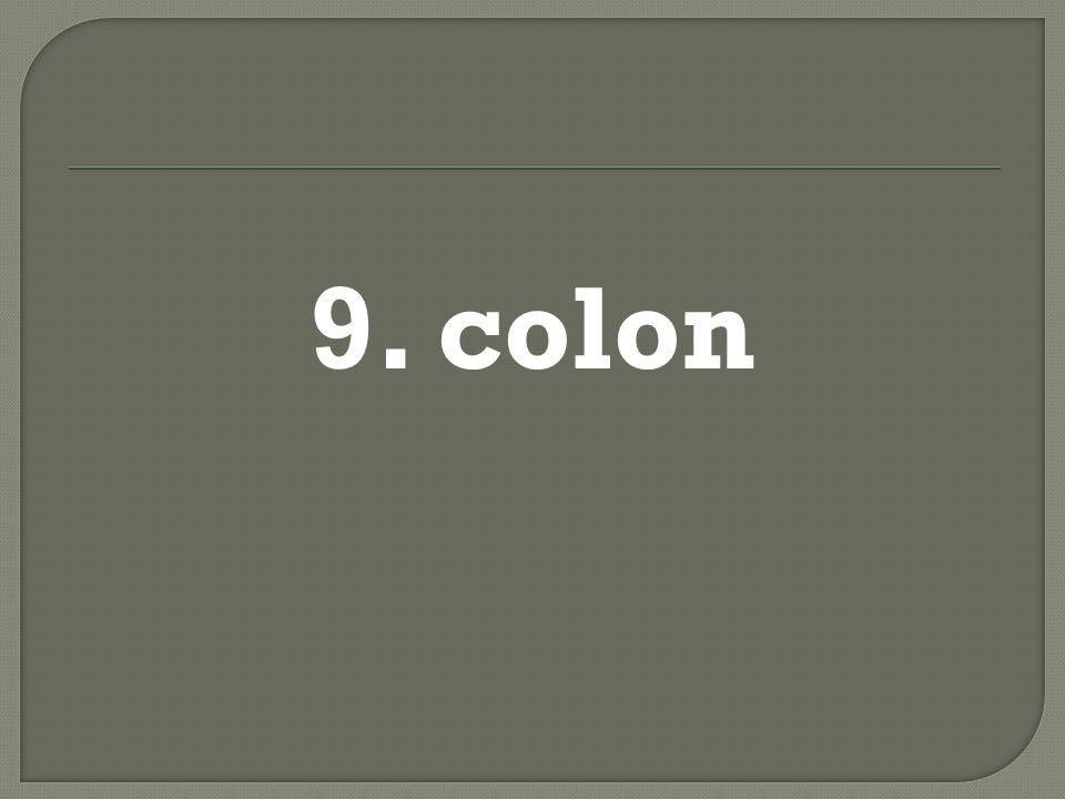9. colon