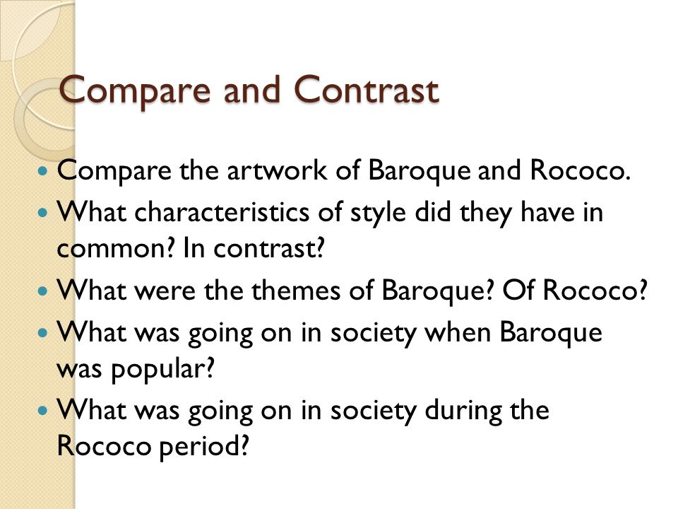 compare and contrast art history research