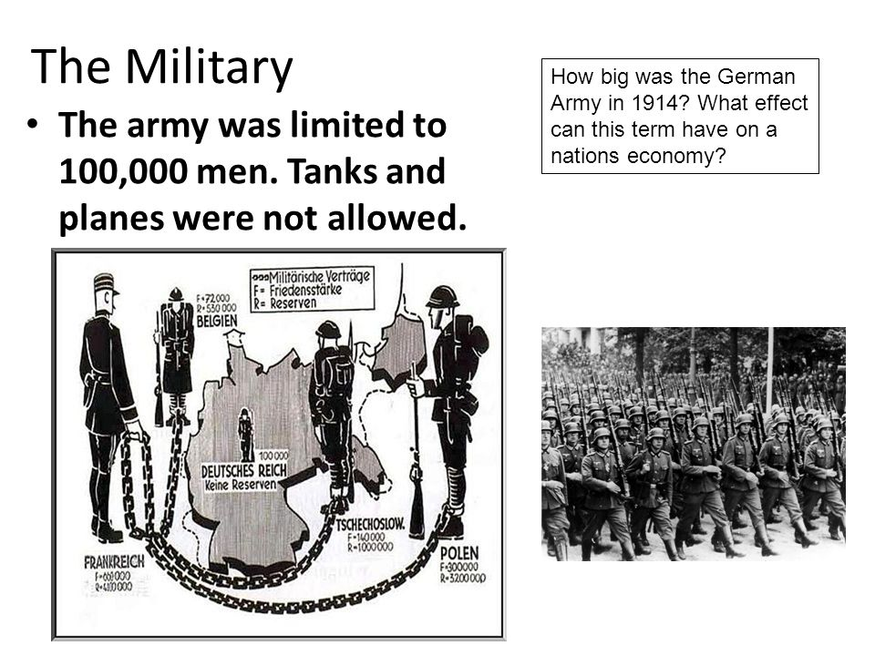 Germany had to accept total responsibility for starting the World War One.