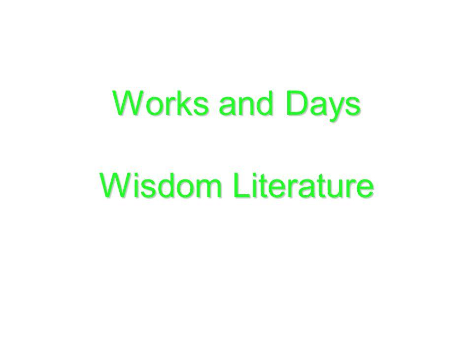 Works and Days Wisdom Literature